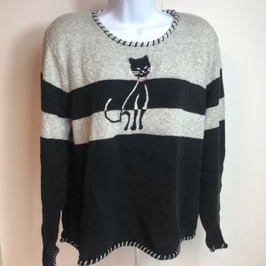 Crazy cat lady sweater hand embroidered
